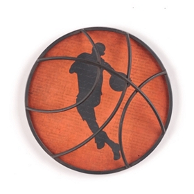 Basketball Metal Wall Plaque