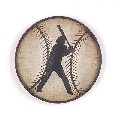 Baseball Metal Wall Plaque