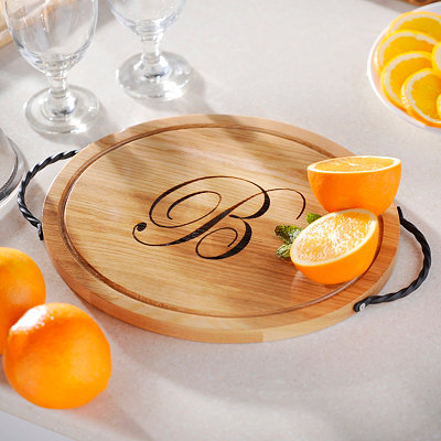 Oval Wooden Monogrammed Cutting Board