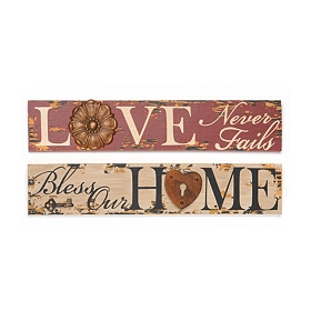 Sentimental Wall Plaques with Metal Accent