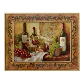 French Food & Wine Canvas Art Print