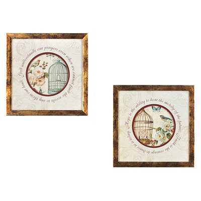 Birds in Bloom Framed Art