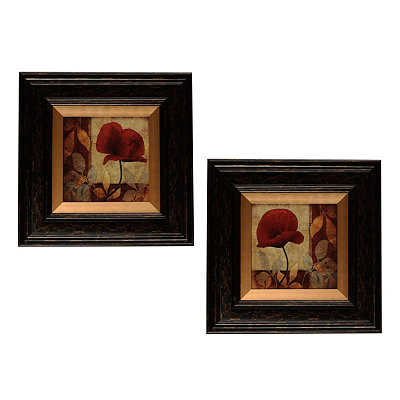 Red Poppy Patch Framed Art Print