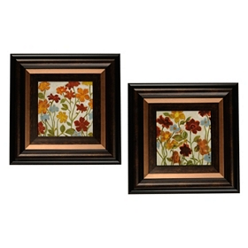 Happy Home Flowers Framed Art Print