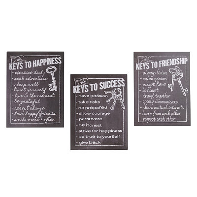 Keys To Metal Wall Plaque