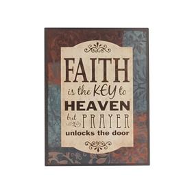 Faith Is The Key Wall Plaque