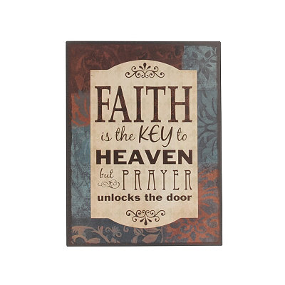 Faith Is The Key Wall Plaque