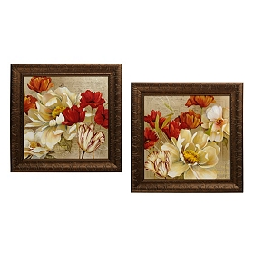Red & White Bouquet Framed Art Print