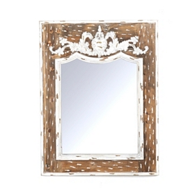 Distressed Wood Victoria Mirror