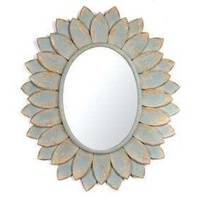 Blue Bloom Mirror