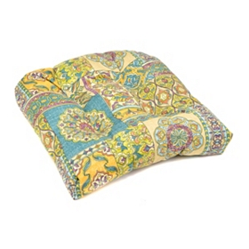 Aqua Tile Outdoor Seat Cushion