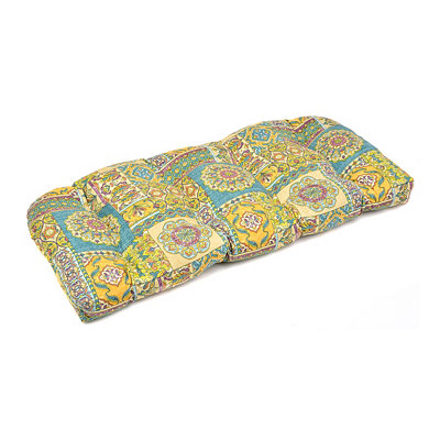 Aqua Tile Outdoor Settee Cushion