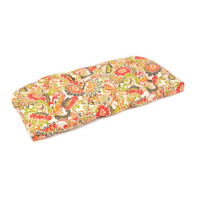 Floral Burst Outdoor Settee Cushion