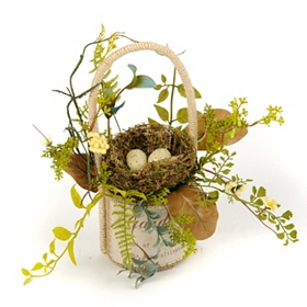 Veranda Nest Basket Arrangement, 10 in.