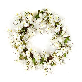 Dogwood Wreath, 30 in.