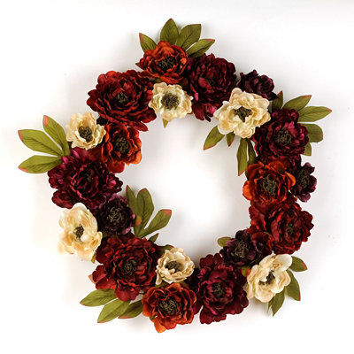 Peony Passion Wreath, 26 in.