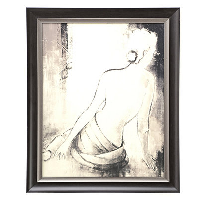 Seated Woman I Framed Art Print