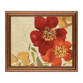 Red Floral I Framed Art Print