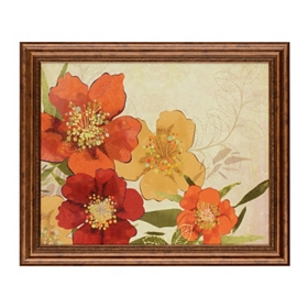 Red Floral II Framed Art Print