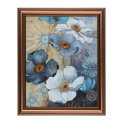 Blue Floral I Framed Art Print