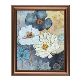 Blue Floral II Framed Art Print