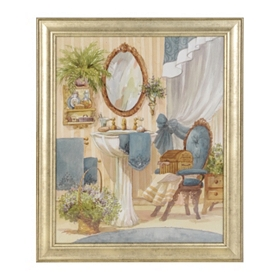 Victorian Blue Bath I Framed Art Print