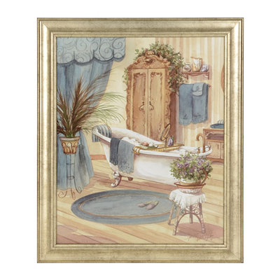 Victorian Blue Bath II Framed Art Print