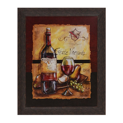 Wine Table II Framed Art Print