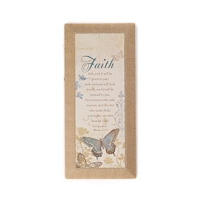 Faith Burlap Canvas Art Print
