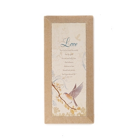 Love Burlap Canvas Art Print