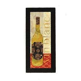 Vin Blanc Burlap Canvas Art Print