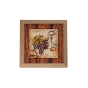 Wine Journal I Burlap Canvas Art Print