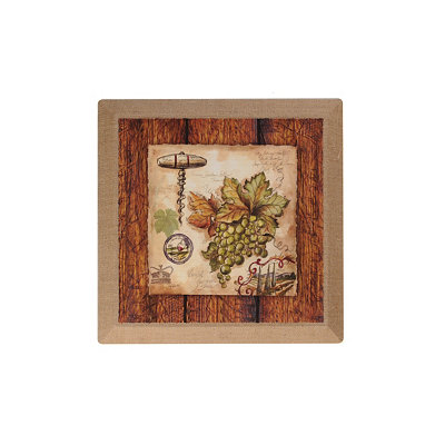 Wine Journal II Burlap Canvas Art Print