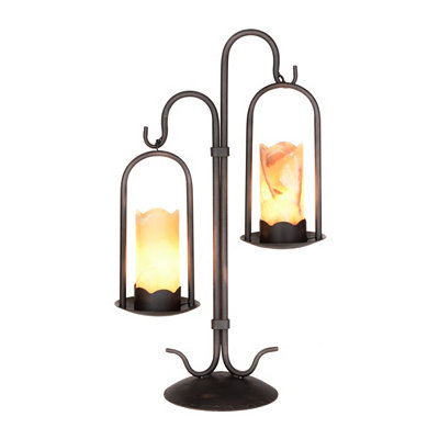 Onyx Iron Candle Dual Uplight
