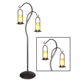 Onyx Iron Candle Dual Floor Lamp
