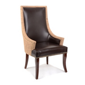 Leather & Burlap Chatham Arm Chair