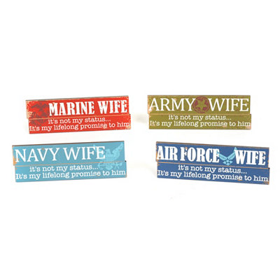 Armed Forces Wife Wall Plaques