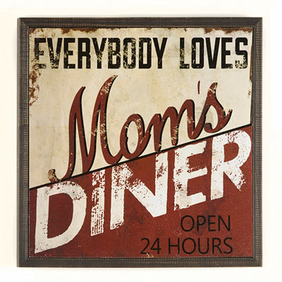 Mom's Diner Wall Plaque