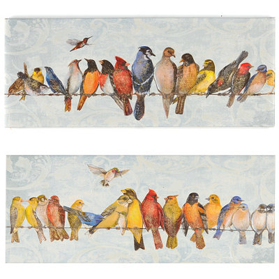 Birds On A Wire Canvas Art Print