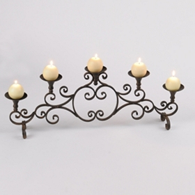Bronze Scroll Candle Runner
