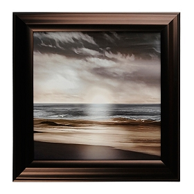 Blue Sea Sunset I Framed Art Print