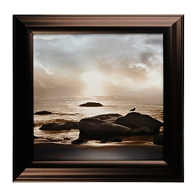 Blue Sea Sunset II Framed Art Print