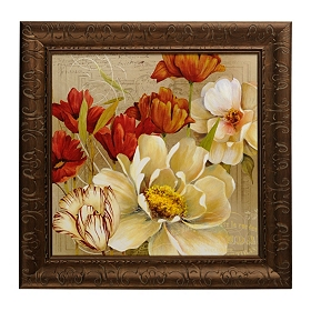 Red & White Bouquet I Framed Art Print