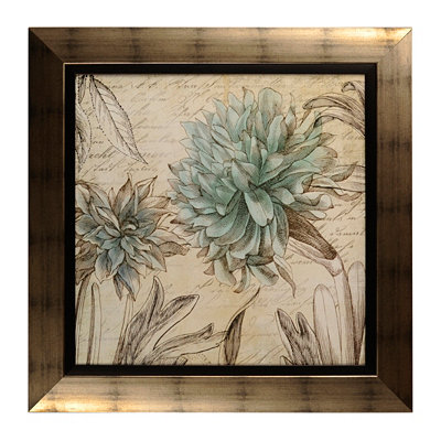 Blue Botanical Tapestry II Framed Art Print
