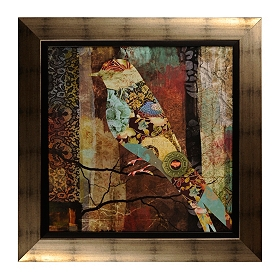 Patchwork Bird I Framed Art Print
