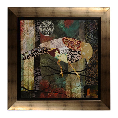 Patchwork Bird II Framed Art Print
