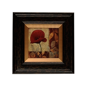 Red Poppy Patch I Framed Art Print
