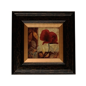 Red Poppy Patch II Framed Art Print