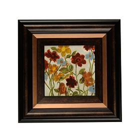 Happy Home Flowers I Framed Art Print