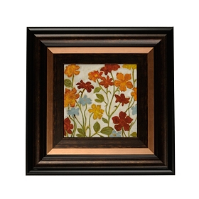 Happy Home Flowers II Framed Art Print